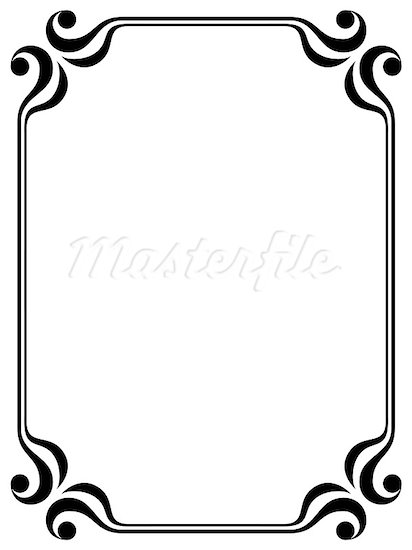 Simple Decorative Line Art : Simple line border design images borders
