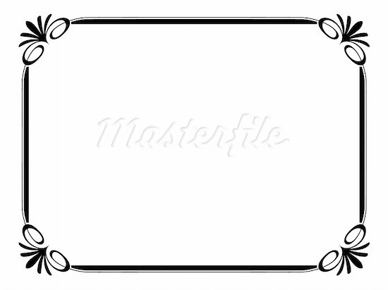 Line Art Border Design : Simple line border design images borders