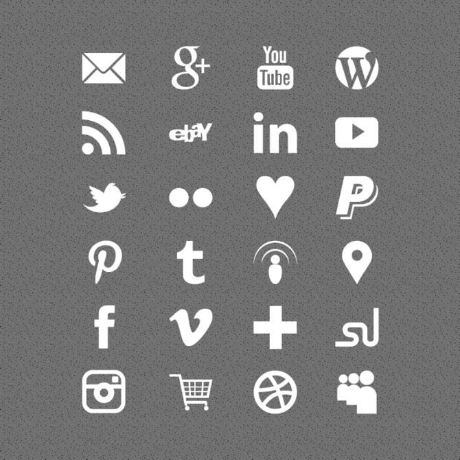 19 Free White Social Media Icons Images - Social Media Icons White