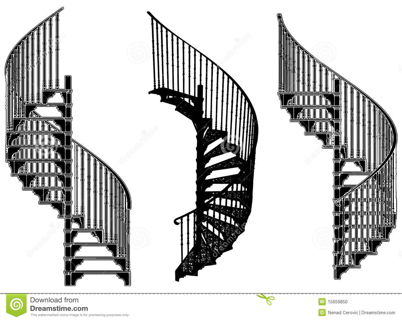 14 Vector Architectural Stairway Images