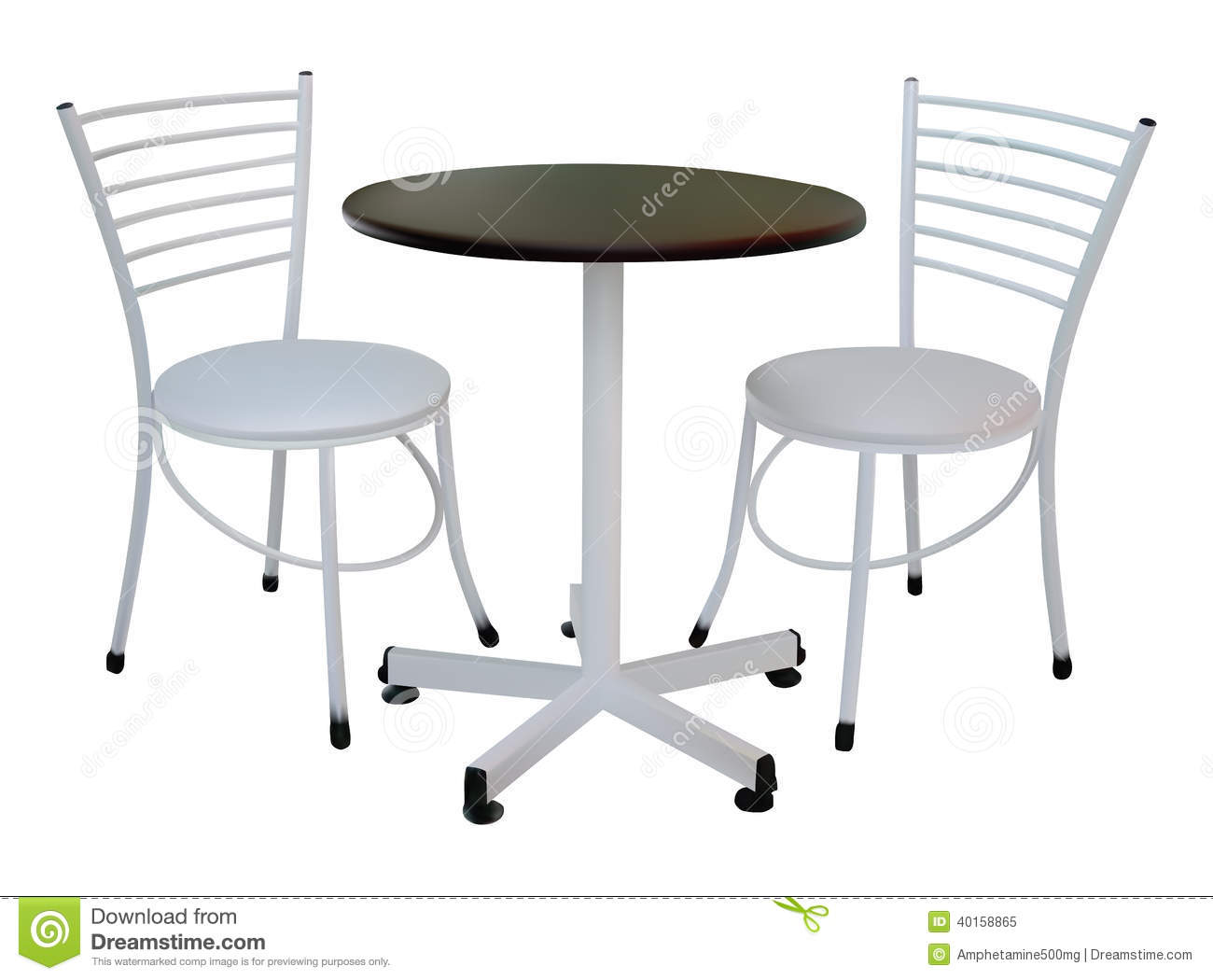 Table and Chair Illustration