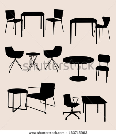Table and Chair Silhouette