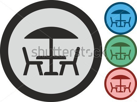 Table and Chairs Icon