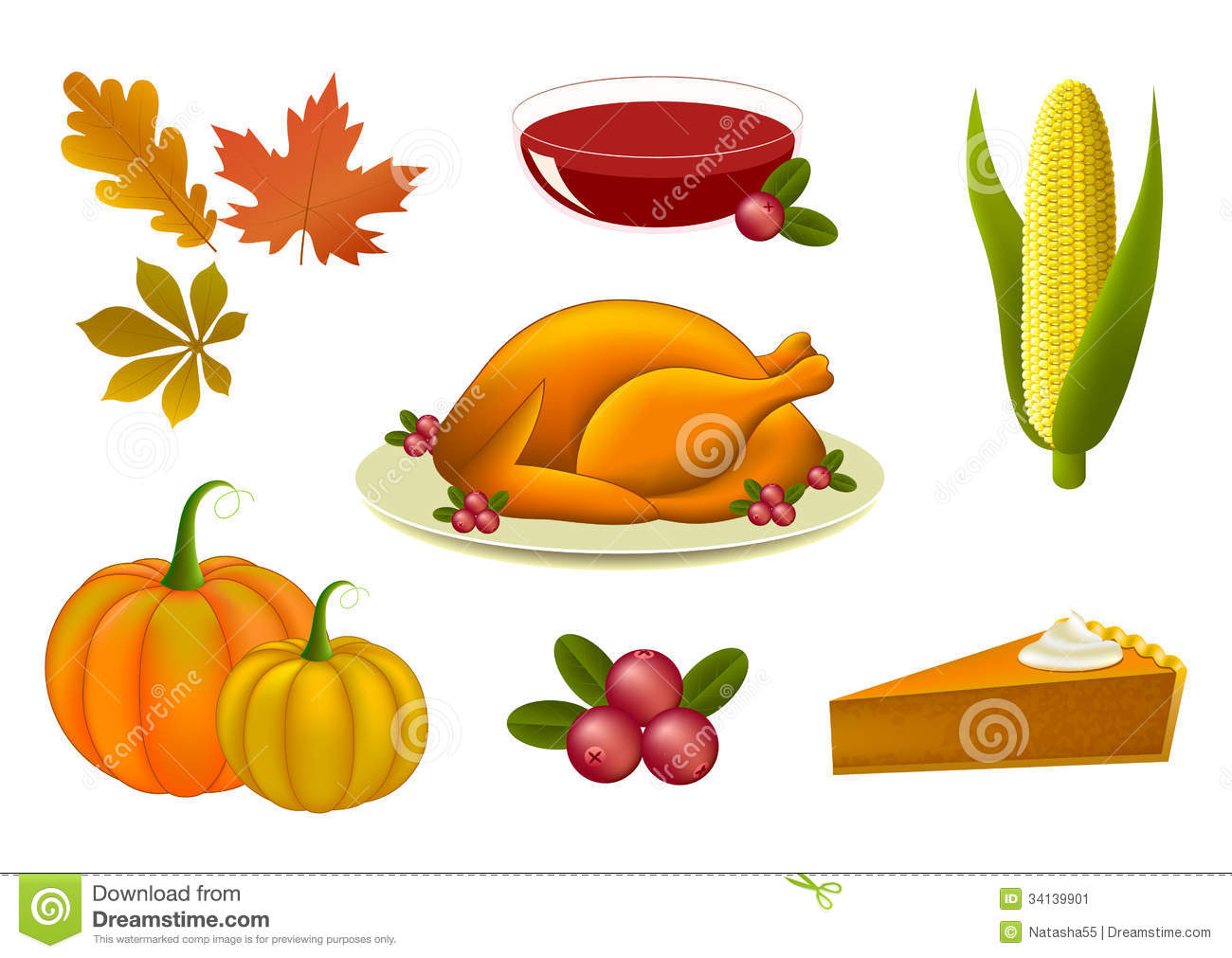 Thanksgiving Icons Symbols