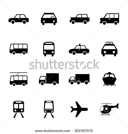 Truck Train Plane Icon