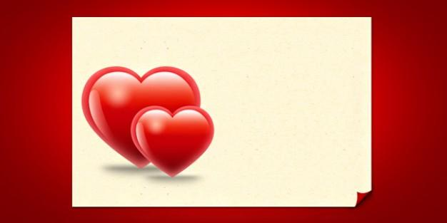 10 Red Heart PSD Template Images