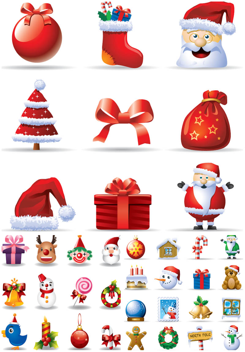 Vector Cartoon Christmas Trees