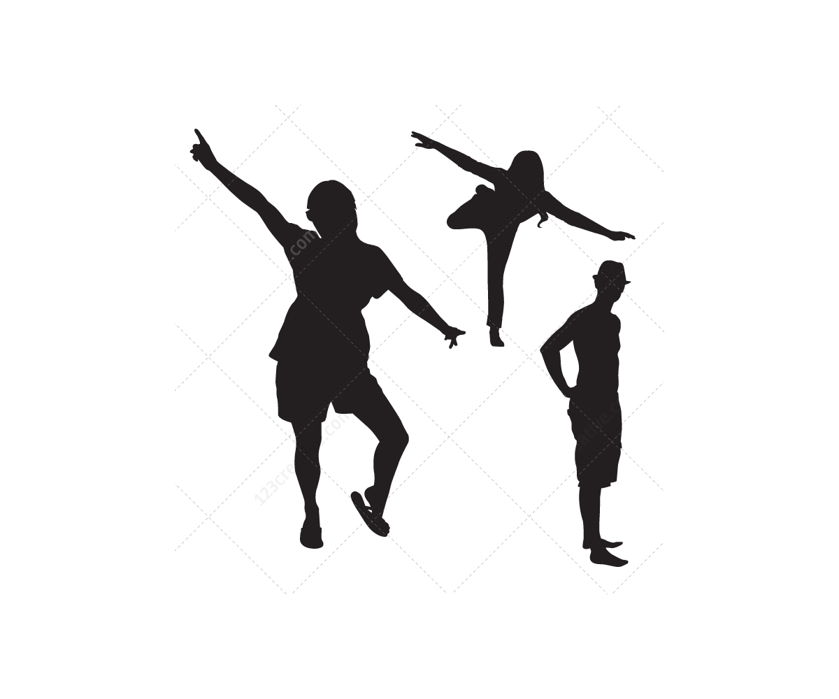 Vector People Silhouettes Girls