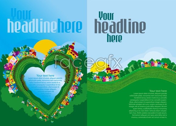 6 Spring Vector Text Images