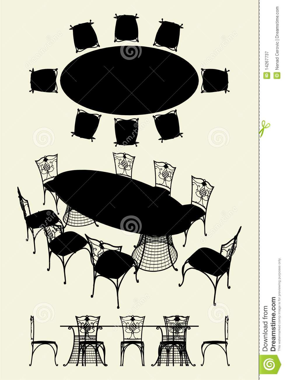 Vector Table and Chairs