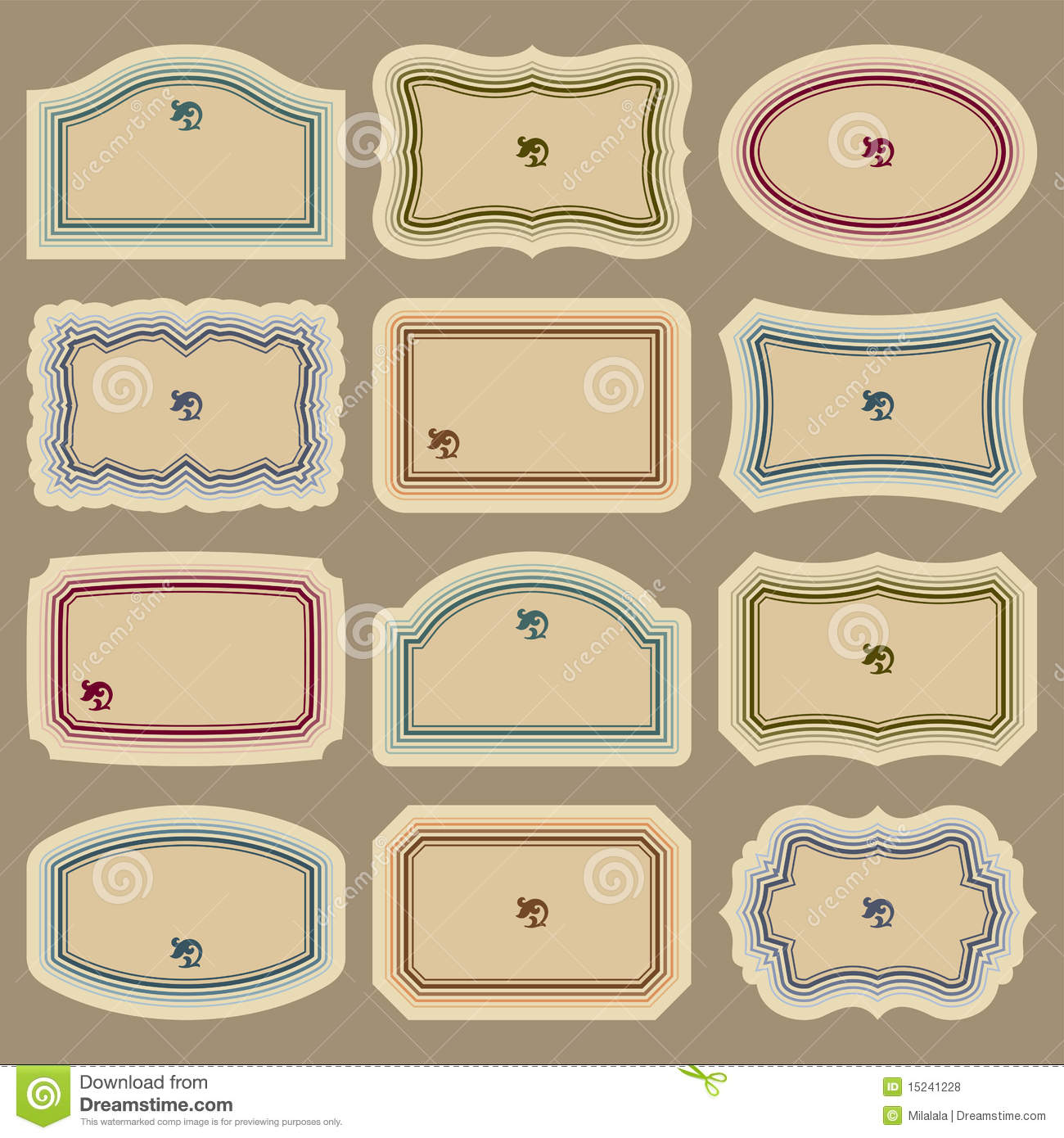 7 blank vintage label vector images free printable blank for Free downloadable labels template