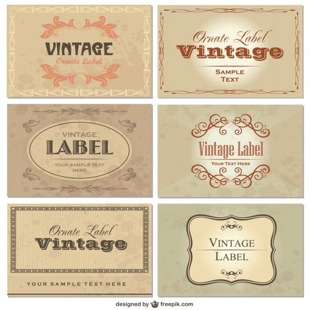 Vintage Labels Free Download Vectors