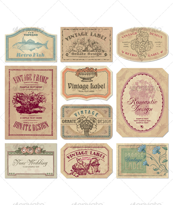 Vintage Labels to Print