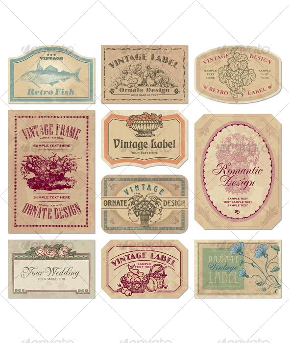 Vintage Labels to Print