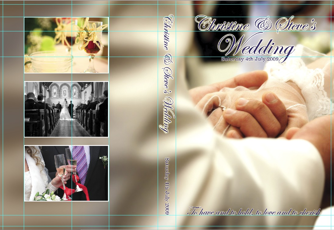 Wedding DVD Cover Template Photoshop
