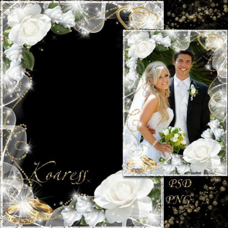 Wedding Frame Photoshop PSD Templates