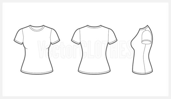 women tshirt template - Pertamini.co