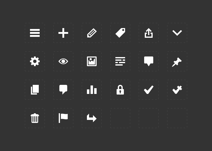 19 Mobile App Menu Icons Images