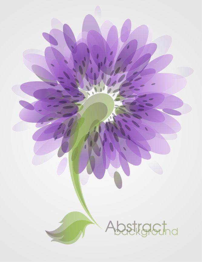 12 Modern Flower Vector Clip Art Images