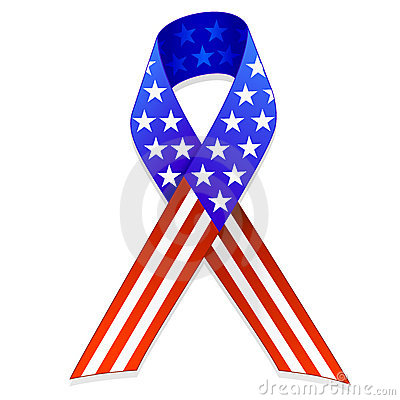 15 Ribbon US Flag Vector Art Images