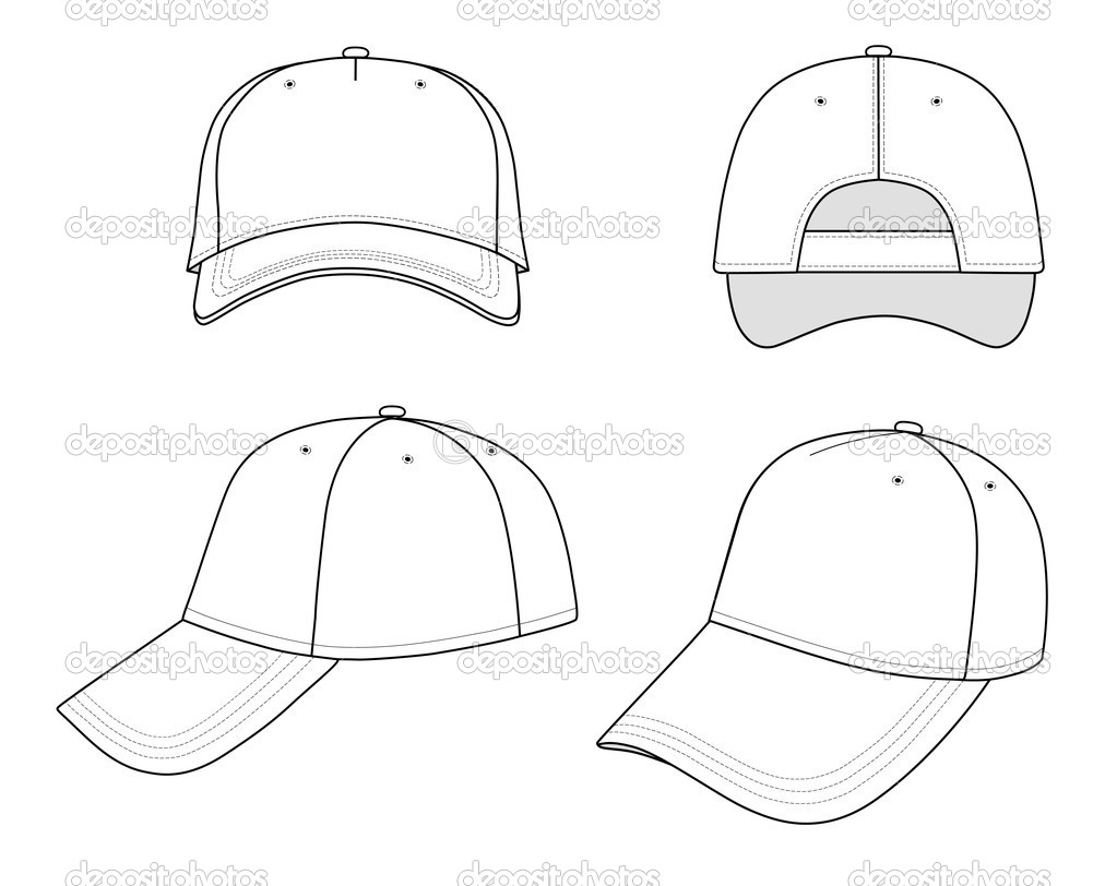 12 baseball hat design template images baseball cap vector template baseball cap design. Black Bedroom Furniture Sets. Home Design Ideas