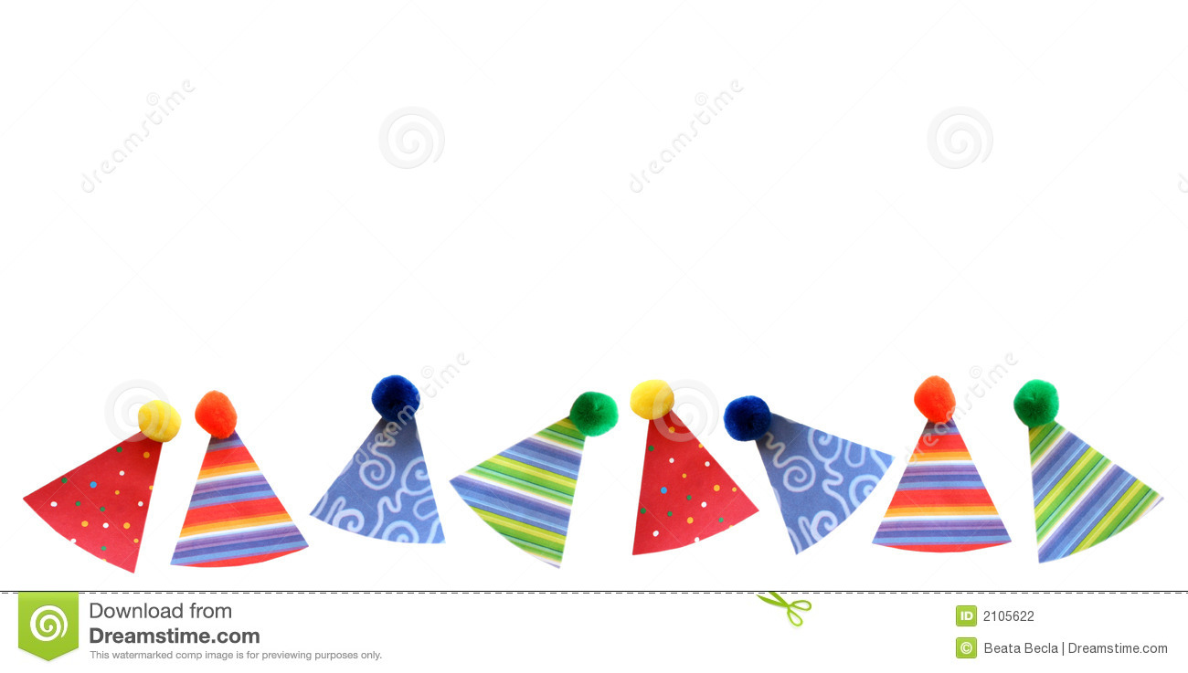 Birthday Party Hats Border