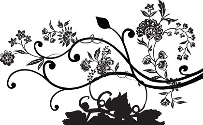 18 Black Floral Vector Images