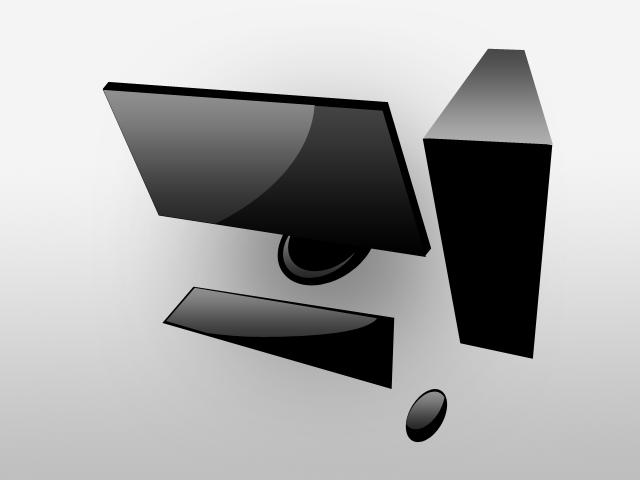 Black Computer Graphic