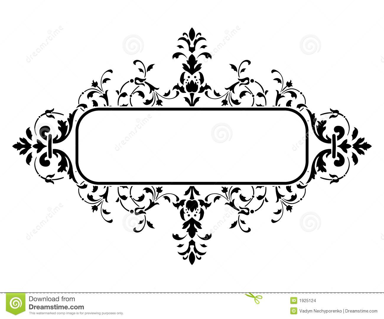 Black Floral Frame Vector