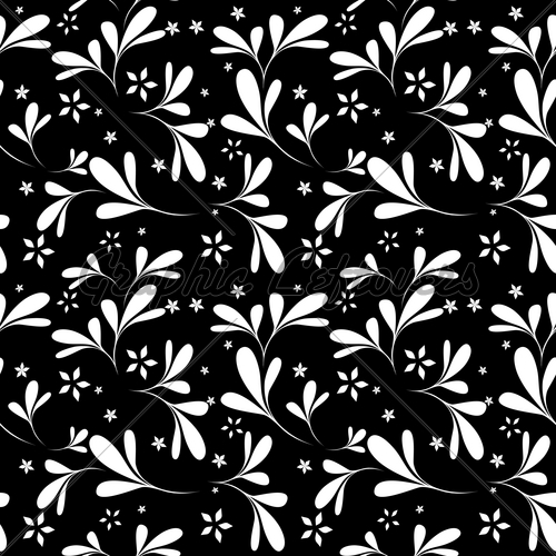 Black Floral Pattern Vector