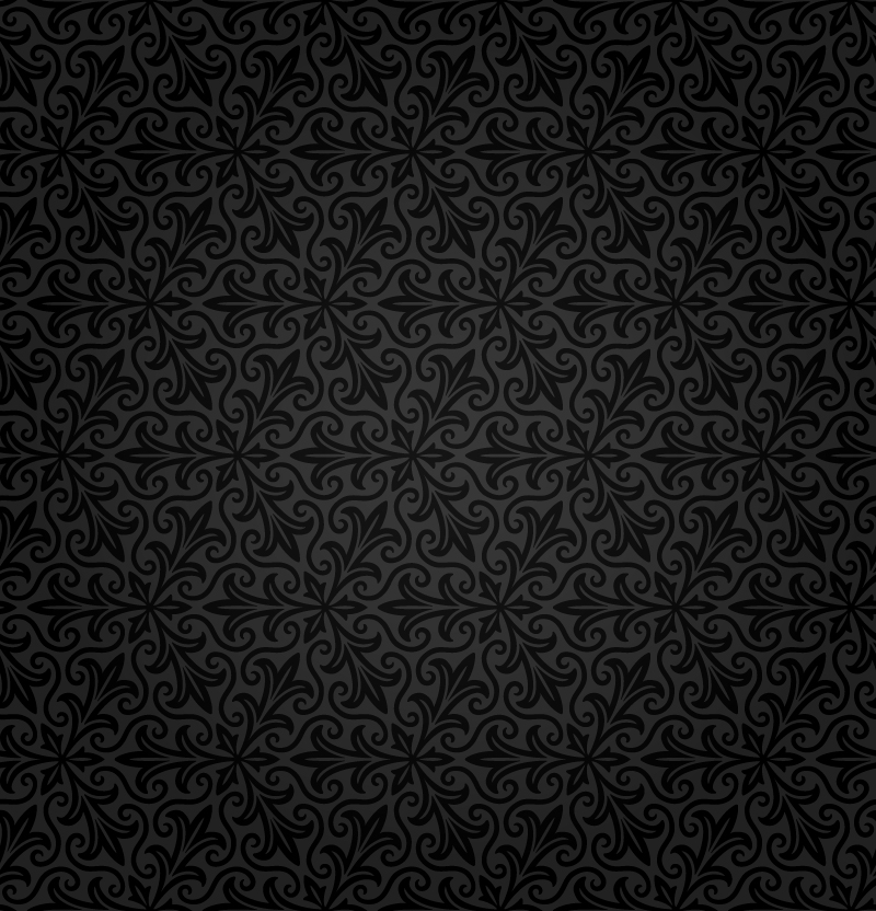 Black Vector Floral Pattern Wallpaper