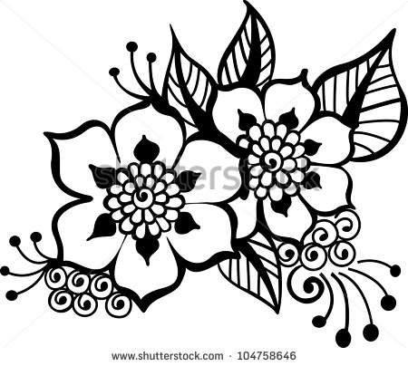 Black Vector Flower