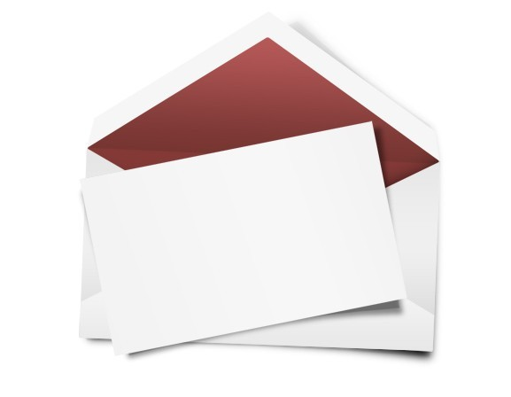 Blank Letter and Envelope