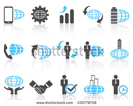 Blue Business People Icons