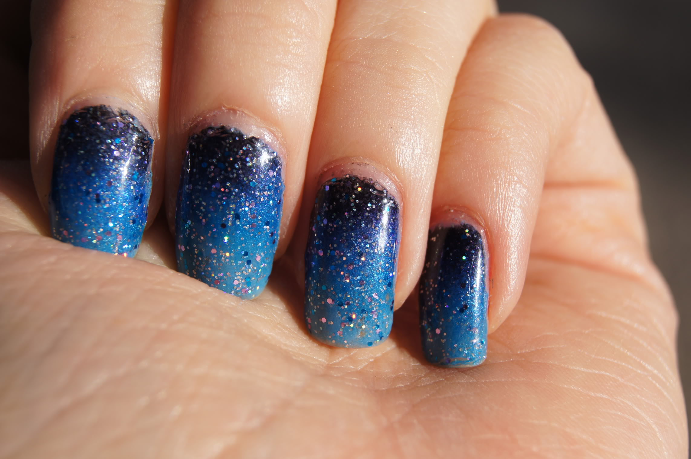 12 Blue Nail Designs Images