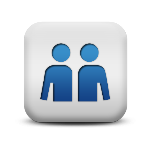 Blue Square Icon People