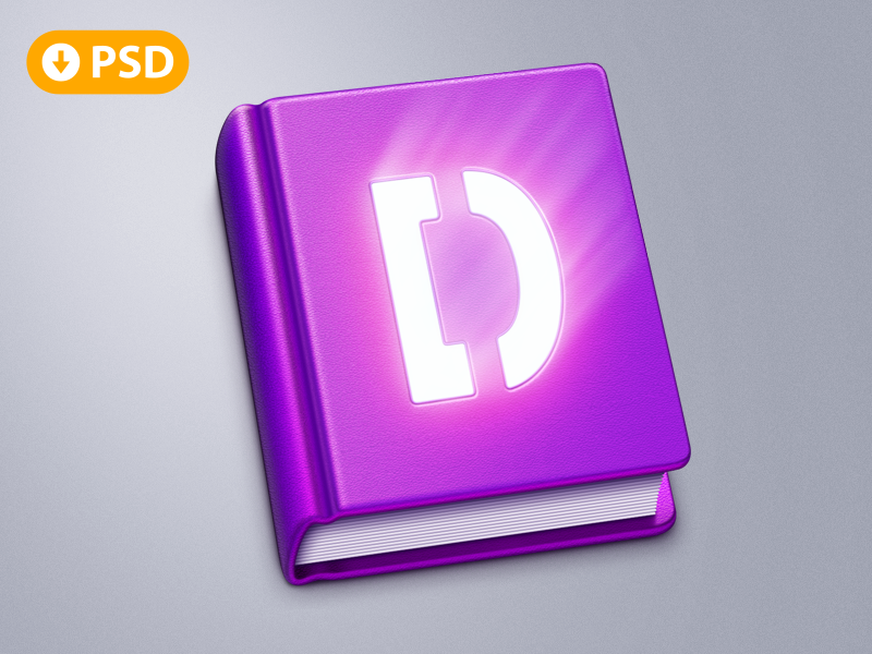 Book App Icon PSD