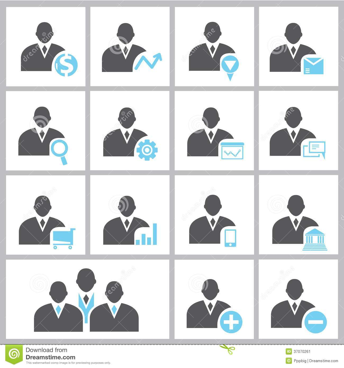 Business People Icons