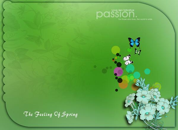 Butterflies Background Templates