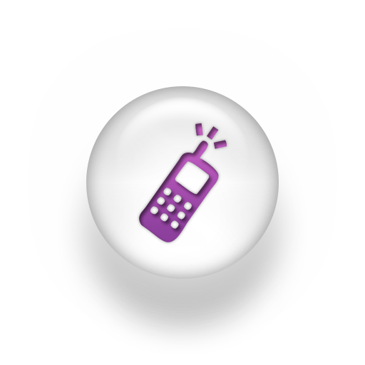 Cell Phone Icon White