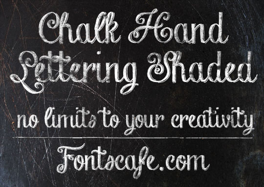 6 Chalk Hand Lettering Shaded Font Images