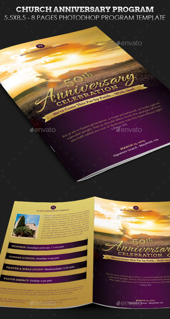 17 church program fireworks templates psd images