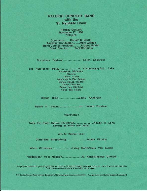 Church Choir Concert Program Template