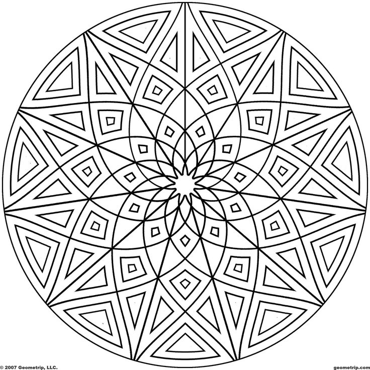 9 kaleidoscope design coloring pages images printable kaleidoscope