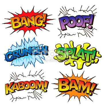 7 Comic Book Sound Effects Font Images