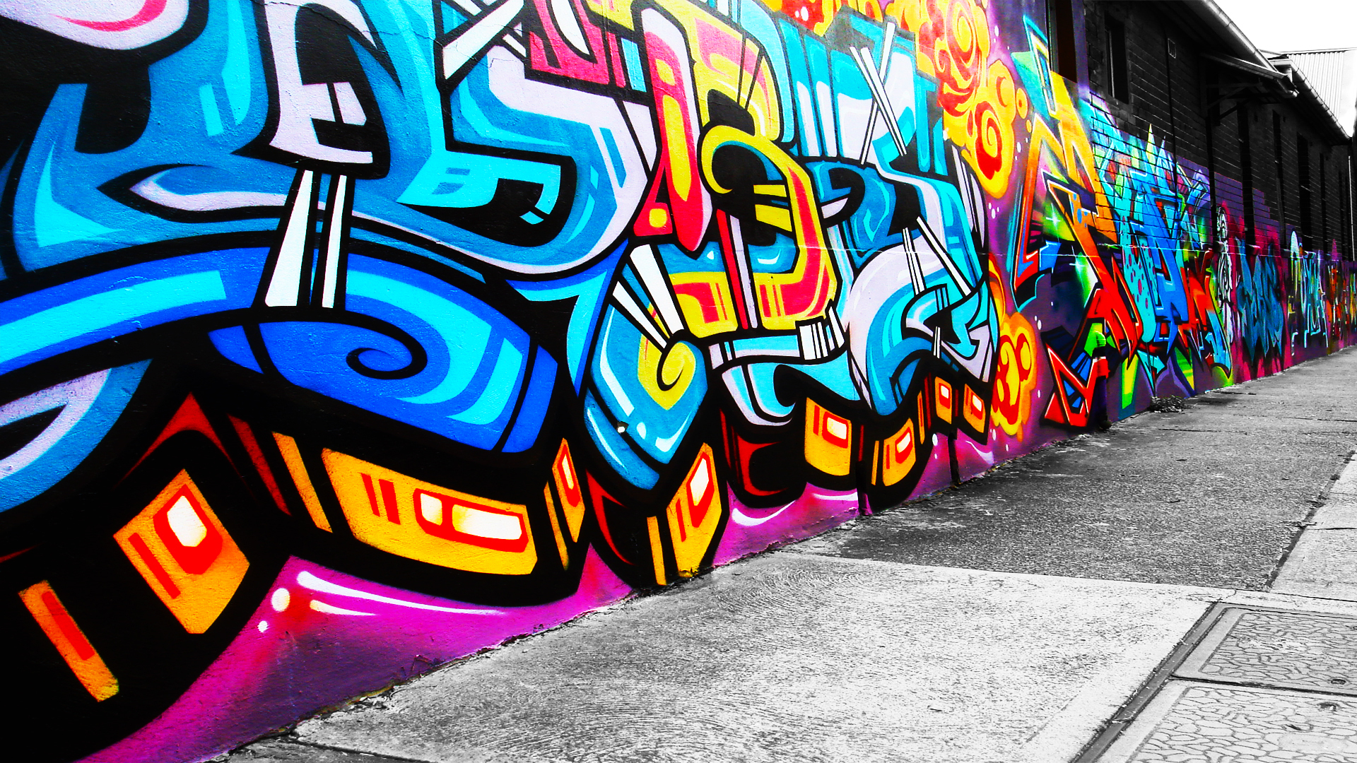 9 Graffiti Background Designs Images