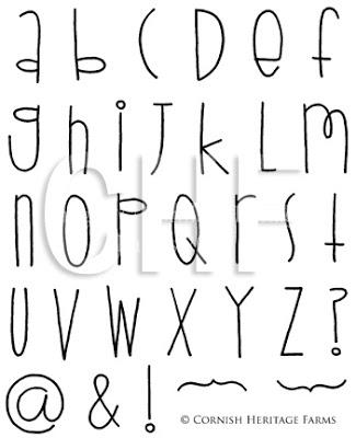 Cool Handwriting Fonts Alphabet