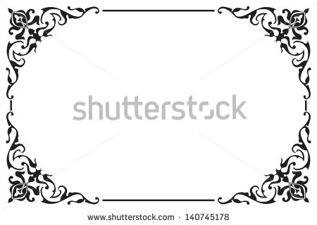 Damask Flourish Border