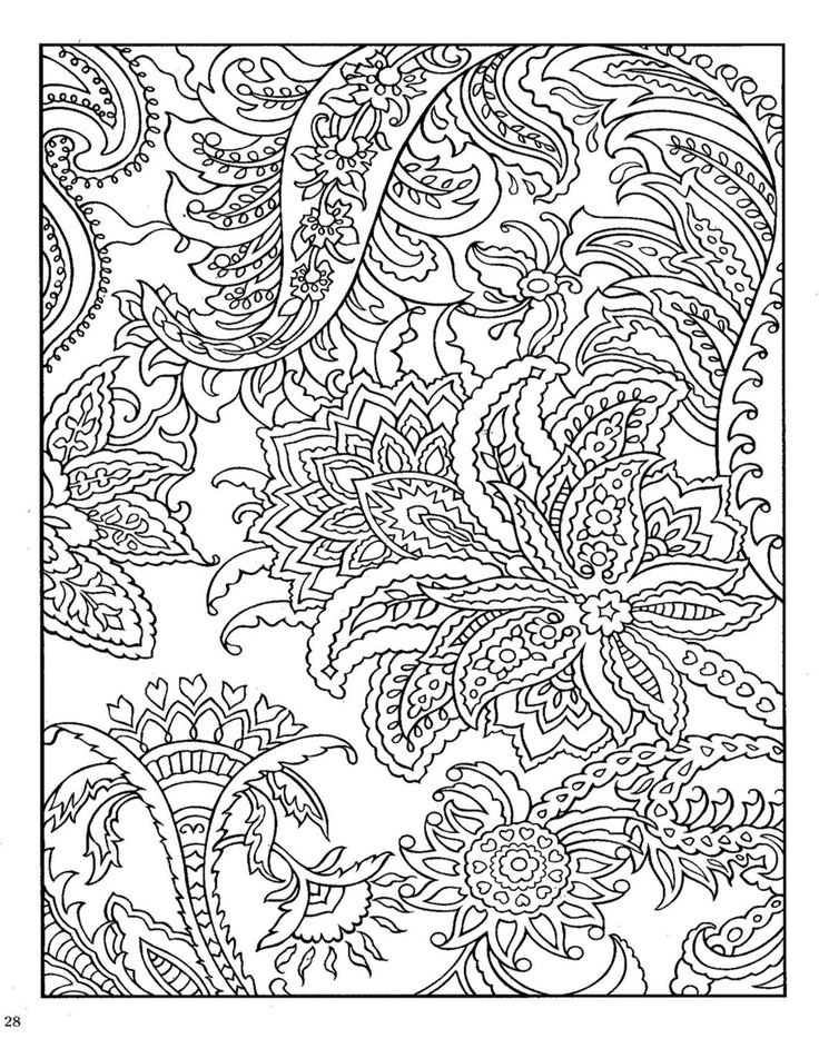 18 Blue Paisley Designs Coloring Book Images