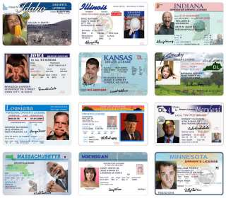 10 Driver License Templates Fun Cards Invitations PSD Images
